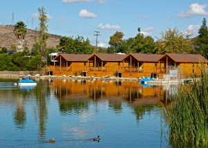 4 waterfront cabins