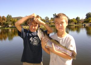 Boys with Trout