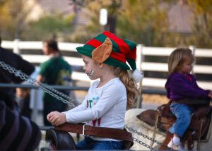 pony ride at Santa