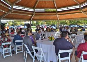 Lake 1 Gazebo is perfect for corporate events!