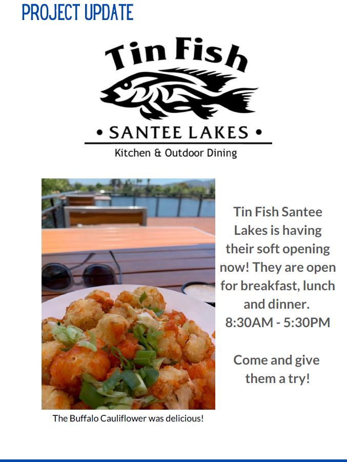 Tin Fish Santee Lakes